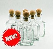 nr 8 Glasflaschen Cubica 250 ml aus weißem Glas