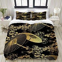 NR Bettwäsche-Set,Mikrofaser,Fan Flower Unbrella