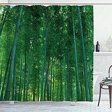 NR Duschvorhang,Bambus Dschungel Natur Landschaft