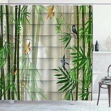 NR Duschvorhang,Bambus im japanischen Stil