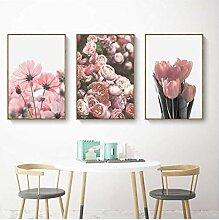 nr Nordische Blume Leinwand Malerei Wohnzimmer
