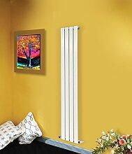 nrg-radiator 1600x 272mm Vertikal hoch aufrecht Flat Panel Designer Badezimmer Zentralheizung Heizkörper weiß glänzend Single Column–Ideal für Badezimmer, Schlafzimmer, Küche, Flur, Wohnzimmer