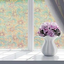 NRSP Badezimmer Schlafzimmer Fenster Badezimmer Milchglas Aufkleber undurchsichtige Fenster Sonnenschutz Film Retro 2 m