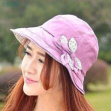 nsxbzz *Frau Hut Sommer Visor weiblichen Hüte Strand große Outdoor entlang der Sonnenschutz gap Tourismus cap Falten Code ist die Rote