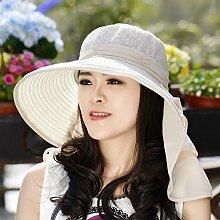 nsxbzz *Visor schwarz Gesicht Sonnenschutz gap Kinder große Outdoor Sommer Sonne hat entlang der Hals Radfahren uv code Falten Farbe