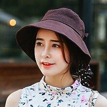 nsxbzz *Visor weiblichen Sonnenschutz faltbar Hüte Outdoor Sommer Kinder sind Code Braun