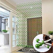 NSYNSY Holzperle Schnur Vorhang für Raumteiler
