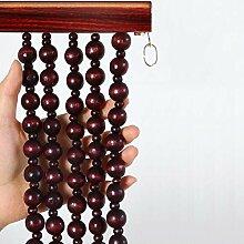 NSYNSY Schnur Perlen Vorhang Natur Holz Perlen