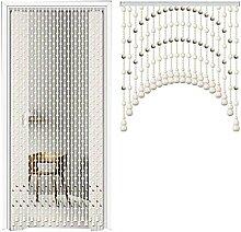 NSYNSY Vintage Holz Perlen Vorhänge Tür Schnur