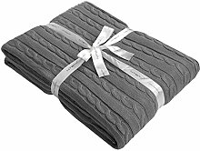 NTBAY 100% Baumwolle Kabel Knit Überwurf Decke
