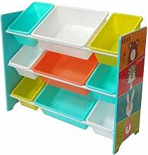 NTS Kinderregal mit 9 Kunststoffbox