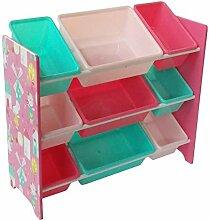NTS Kinderzimmeregal Spielzeugregal mit 9