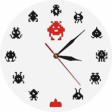 nuanyang Wanduhren,Uhren,Wecker Retro Game Space