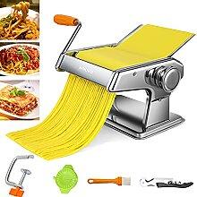 Nudelmaschine Manuell, Pastamaschine aus Edelstahl
