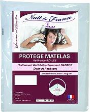 Nuit de France 329380Matratzenschoner für Kinderbett Baumwolle weiß, weiß, 80 x 190 cm