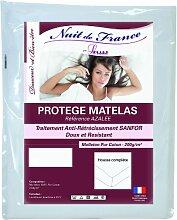 Nuit de France 329414Matratzenschoner Baumwolle weiß, weiß, 200 x 200 cm