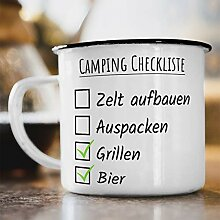 Nukular Emaille Tasse Camping Checkliste Toller