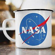 Nukular Emaille Tasse NASA Logo Meatball Toller