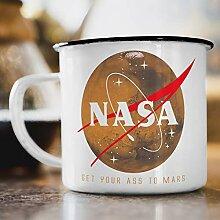 Nukular Emaille Tasse NASA Mars Logo Meatball
