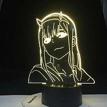 Null zwei Liebling in der Franxx Anime 3d Lampe