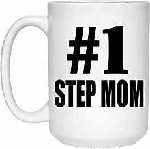 Number One #1 Step Mom - 15 Oz Coffee Mug