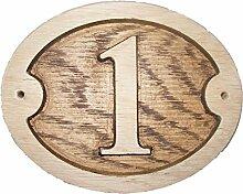 Nummer 1Oval natürlichen Eiche Holz House Tür