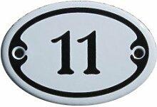 Nummer 11 Mini Emaille Schild Jugendstil ca. 4,2 x