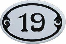 Nummer 19 mini Emaille Schild Jugendstil ca. 4,2 x