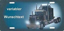 Nummernschild US-Truck Peterbilt selbst Gestalten