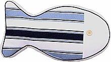 Nunubee Cartoon Auto niedlich Spielzeug Kissen Baumwolle Polyester PP Baumwolle Sofa Büro Kissen Dekorative, hellblaue Bars 44*23*7cm