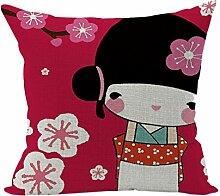 Nunubee Cartoonbild Geschenk Kissenbezug Dekoration Kissen accessory für Haus und Auto Stil 4