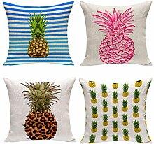 Nunubee Kissenbezug Spezial Stil kunst der ananas cushion cover Sofa Büro Dekorativ 45*45cm Vielfalt Kombinationen