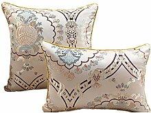 Nunubee Kissenbezug westlicher Stil Seide gewaschen Hirschhauttuch cushion cover Sofa Büro Dekorativ, ohne Kissen Kern 30*45cm