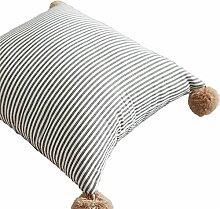 Nunubee Leinen Polyester Kissen Streifen