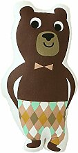Nunubee süße Spielzeug Kissen Baumwolle Polyester PP Baumwolle Sofa Büro Kissen Dekorative, Braunbär 50*30cm