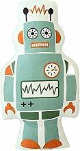 Nunubee süße Spielzeug Kissen Baumwolle Polyester PP Baumwolle Sofa Büro Kissen Dekorative, Blauer Roboter 50*30cm