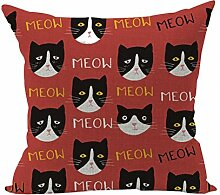 Nunubee Süße Tiere Geschenk Kissenbezug Dekoration Kissen accessory für Haus und Auto Katze Stil 4