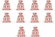 NUOBESTY 10 Stücke Geschenksäckchen Weihnachten