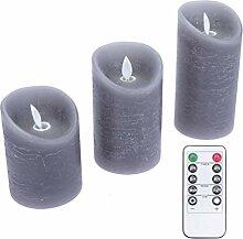 NUOBESTY 3 Stücke Led Elektronische Kerzenlicht