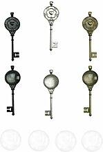 NUOBESTY 36 Stücke Vintage Schlüssel Lünette