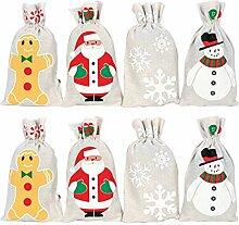 NUOBESTY 8 Stücke Geschenksäckchen Weihnachten