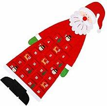 NUOBESTY Weihnachten Fühlte Adventskalender Santa