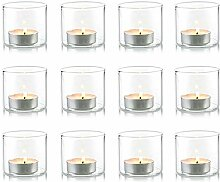 Nuptio Klarer Votiv- / Teelicht-Kerzenhalter aus