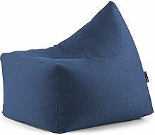 Nur Bezug/Abdeckung für Sitzsack Sitzsack aus Mikrofaser COL.Blau Mis.85x 70H.80leer erhältlich in 8Farben rot orange türkis schwarz pink beige lime blau