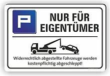 NUR FÜR EIGENTÜMER - Parkplatz Schild/ PV-051 (60x40cm Schild)