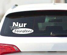 Nur vom Feinsten Autoaufkleber, Shocker Aufkleber Auto DUB Design Sticker 2H277, Breite vom Motiv:30cm
