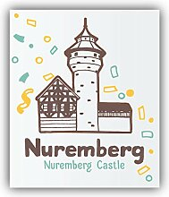 Nuremberg City Germany Castle - Self-Adhesive