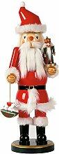 Nussknacker Weihnachtsmann, H: 38 cm, rot,