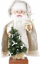Nussknacker Weihnachtsmann mit Pyramide - 45cm