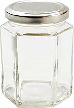 Nutley's Einmachglas, klein, sechseckig,